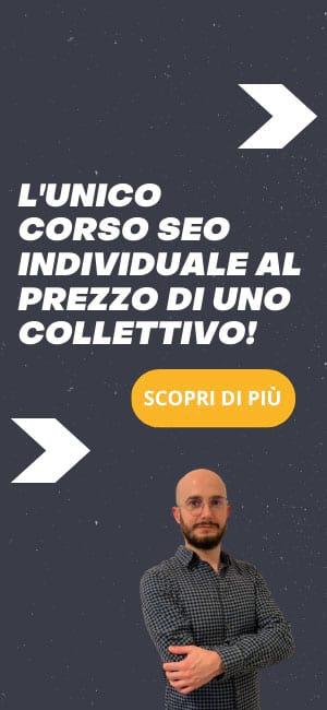 Corso SEO online banner